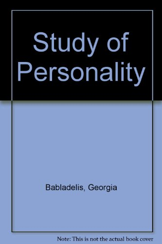 9780030636622: Study of Personality