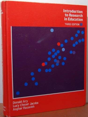9780030636790: Introduction to Research in Education