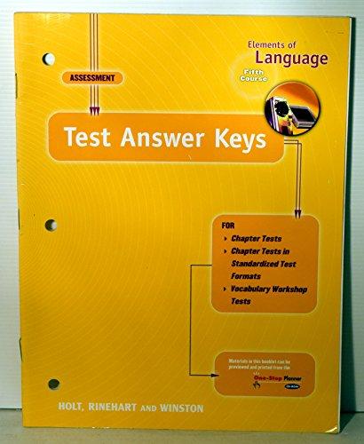 9780030637780: Test Ansky Eolang 2001 G 11