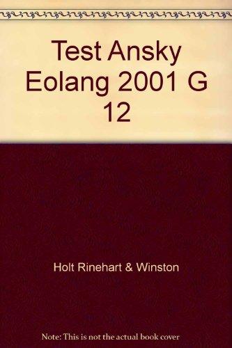 9780030639579: Test Ansky Eolang 2001 G 12