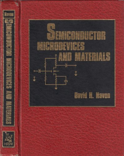 9780030639838: Semiconductor Microdevices and Materials (HRW Series in Electrical and Computer Engineering)
