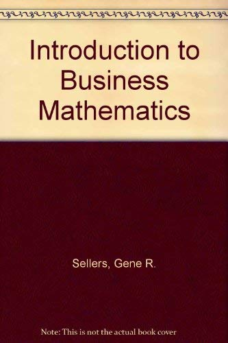 9780030640223: An Introduction to Business Mathematics