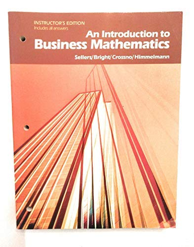 9780030640230: An Introduction to Business Mathematics
