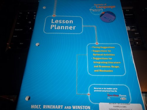 Lesson Planner (Elements of Language Series)
