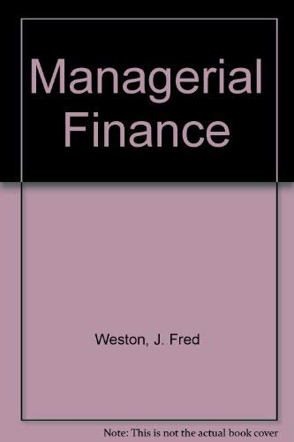 9780030640414: Managerial Finance