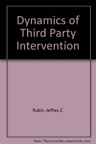 9780030640735: Dynamics of Third Party Intervention