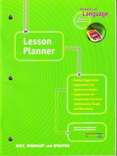 9780030641121: Lesson Planner: Elements of Language, 1st Course, Grade 7
