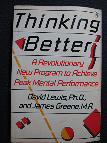 Thinking better (0030641675) by David Lewis; James Greene