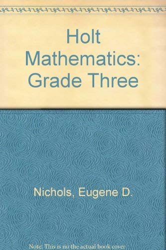 9780030642036: Holt Mathematics: Grade Three