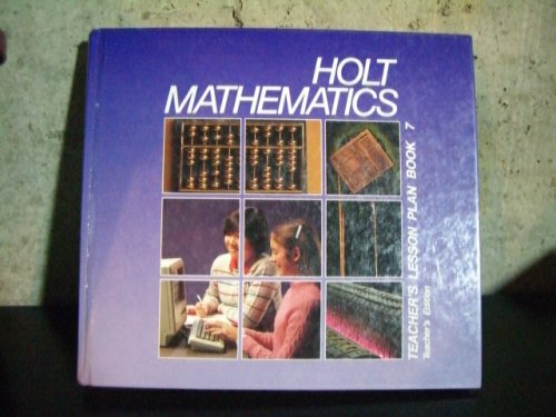 9780030642210: Holt Mathematics Teacher's Lesson Plan Book 7 (Holt Mathematics, Book 7)