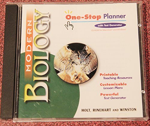 9780030642685: Modern Biology: One-Stop Planner CD with Teacher Guide