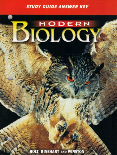 9780030642746: Modern Biology: Study Guide Answer Key