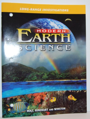 Modern Earth Science: LONG-RANGE INVESTIGATIONS: HOLT, RINEHART AND