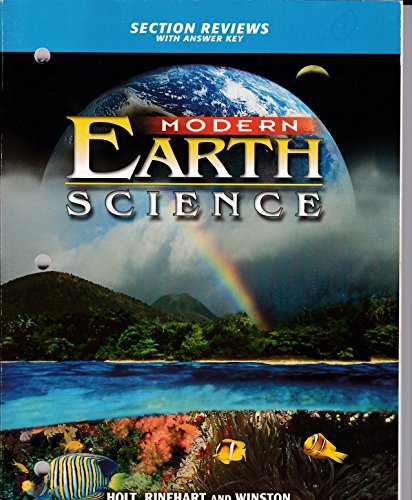 9780030643026: 2002 Holt Modern Earth Science Section Reviews with Answer Key