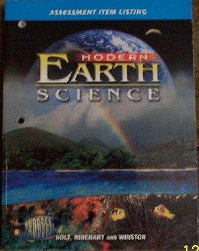 9780030643095: Modern Earth Science Assessment Item Listing