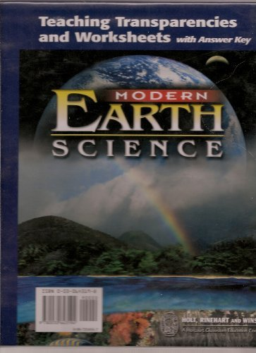 9780030643194: Modern Earth Science: Teaching Transparencies and Worksheets with Answer Key (Teaching Transparencies and Worksheets with Answer Key)