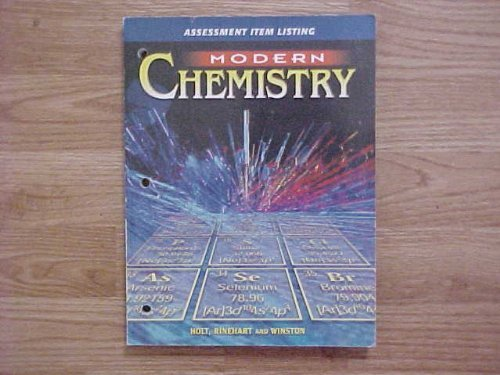 9780030643583: Modern Chemistry Assessment Item Listing Edition: Reptiny