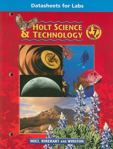 Holt Science & Technology Texas: Datasheet For: HOLT, RINEHART AND