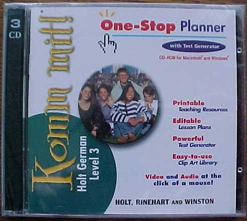 9780030646331: Komm Mit Holt German Level 3 One-Stop Planner With Test Generator CD-ROM