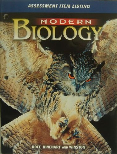 9780030646645: Modern Biology (Assessment Item Listing) Edition: First