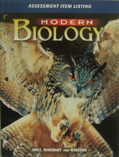 9780030646645: Modern Biology : Assessment Item Listing