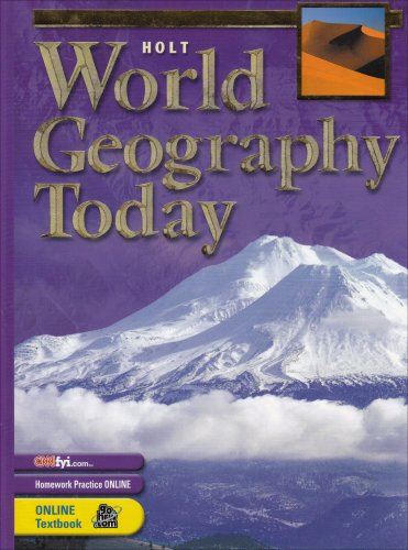 9780030646829: World Geography Today: Student Edition 2003
