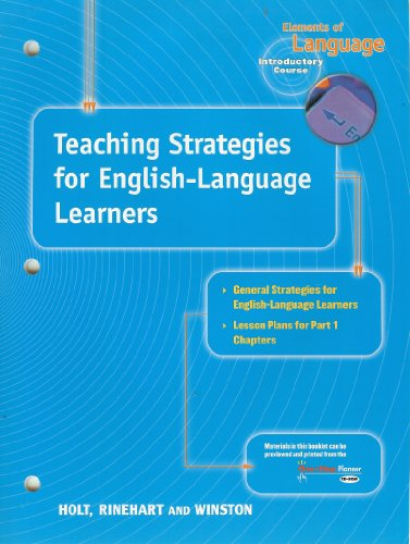 9780030647383: Teaching Strategies for English-Language Learners, Grade 6 (Elements of Language Series)