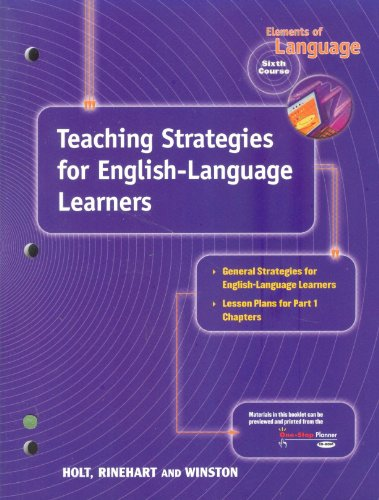 9780030647468: Tchg Strat/Eng Learners Eolang 2001 G 12
