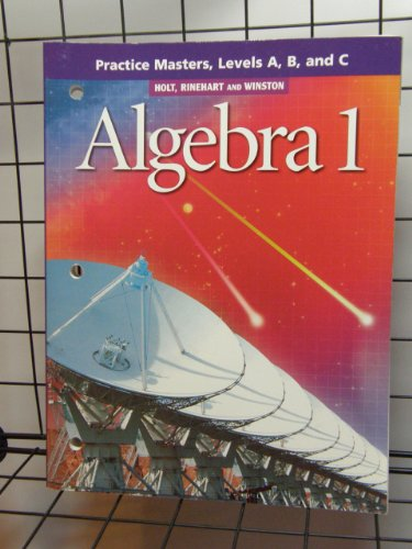 9780030648298: Algebra 1 Levels A, B & C : Practice Masters