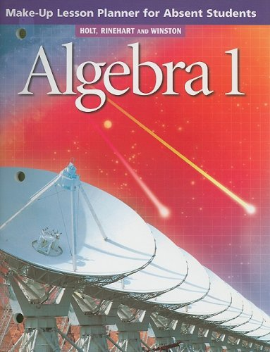 9780030648311: Algebra 1 Make-Up Lesson Planner for Absent Students