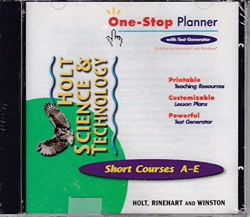9780030649271: One Stop Planner Short Courses A-E with test planner