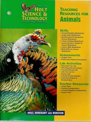 9780030649318: Holt Science & Technology (Teaching Resources for Animals)
