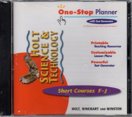 9780030649424: One-Stop Planner with test generator Short Courses F-J