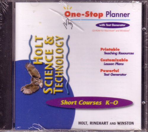 9780030649578: Holt Science and Technology Short Courses K-O One-Stop Planner