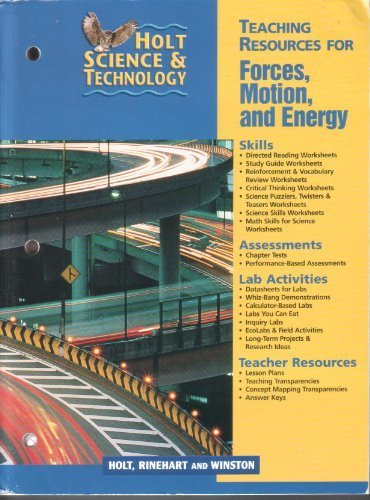 9780030649622: Holt Science and Technology Teaching Resources for Forces, Motion and Energy