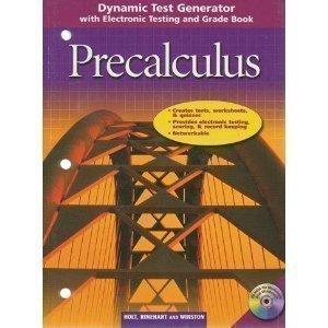 Precalculus: Dynamic Test Generator: Holt McDougal