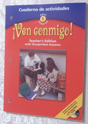 9780030649813: Ven Conmigo! Level 1: Cuaderno de actividades (Teacher's Edition with Overprinted Answers)