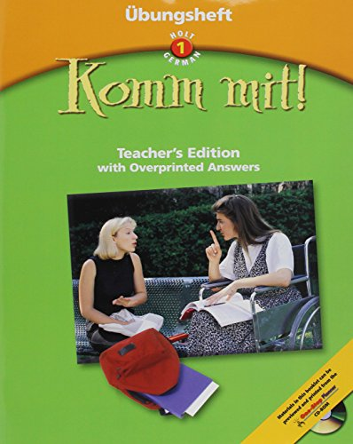 9780030650123: Komm Mit! With Overprinted Answers (Ubungsheft) Teacher's Edition , Level 1