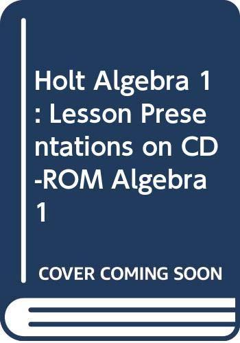 9780030650512: Holt Algebra 1: Lesson Presentations on CD-ROM Algebra 1