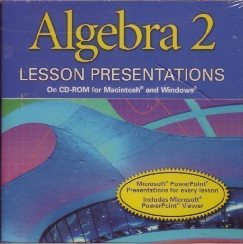 9780030650536: Lesson Presentations on CD-R Alg 2 2001
