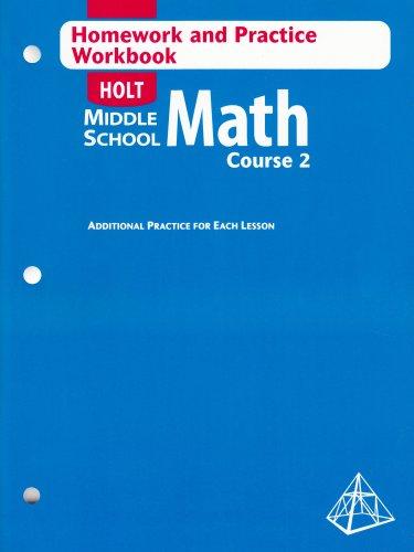 Math Course 2, Grade 7 Homework and: Corporate Author-Holt Mcdougal