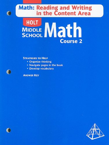9780030650611: Holt Mathematics: Math Reading and Writing Course 2