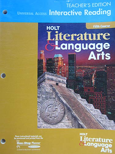 9780030651021: Holt Literature and Language Arts California: Teacher Edition Universal Access Interactive Reader Grade 11