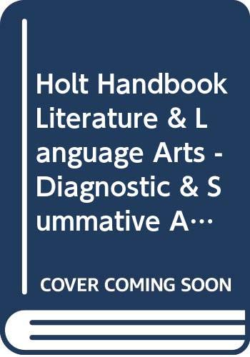 9780030651175: Holt Handbook Literature & Language Arts - Diagnostic & Summative Assessments for Mastering the California Standards Mastery (Holt Literature & Language Arts Third Course)