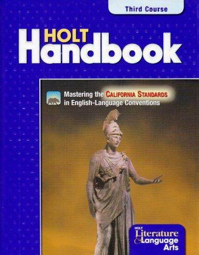 Holt Handbook: Solutions Manual, California Edition: Rheinhart And Winston