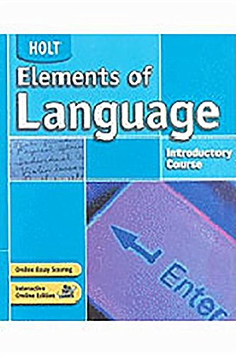 9780030652974: Holt Handbook Language and Sentence Skills Practice: Introductory Course