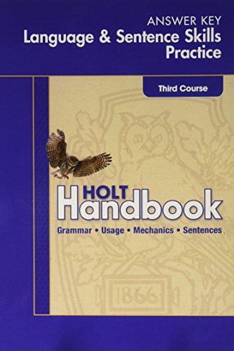 9780030653094 Elements Of Language Language And Sentence