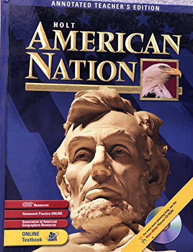 9780030653186: Holt American Nation, Annotated Teacher's Edition