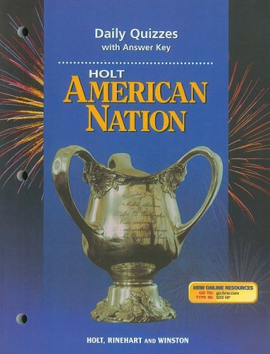 9780030653285: Holt American Nation Daily Quizzes with Answer Key