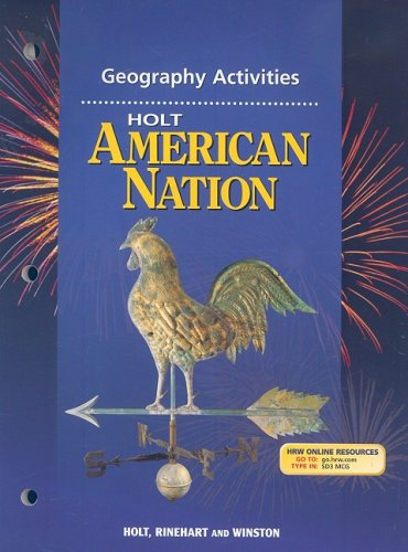 9780030653292: Holt American Nation: Geography Activities Grades 9-12
